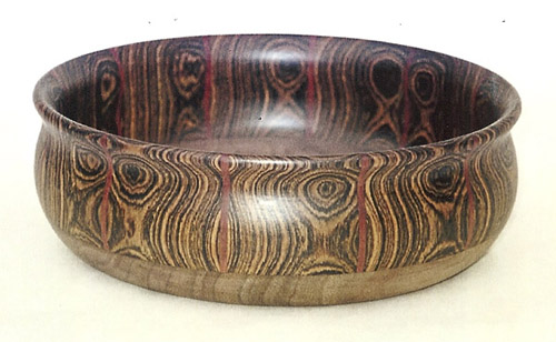 Bocoti, bloodwood & walnut salad bowl